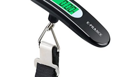 E-PRANCE Balanza Ergonómica LCD Báscula / Báscula Pesca Digital 50g/50Kg 0.1lb/110lb para Maletas Equipaje de Viaje Báscula Negra