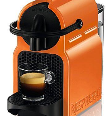 Nespresso DeLonghi Inissia EN80O – Cafetera de cápsulas, color naranja