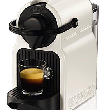 Nespresso Krups Inissia XN1001 – Cafetera de cápsulas, color blanco